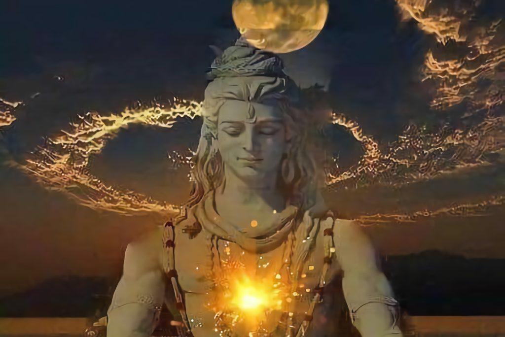 Shiva vor Wolken